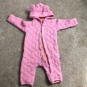 Baby winter button up suit